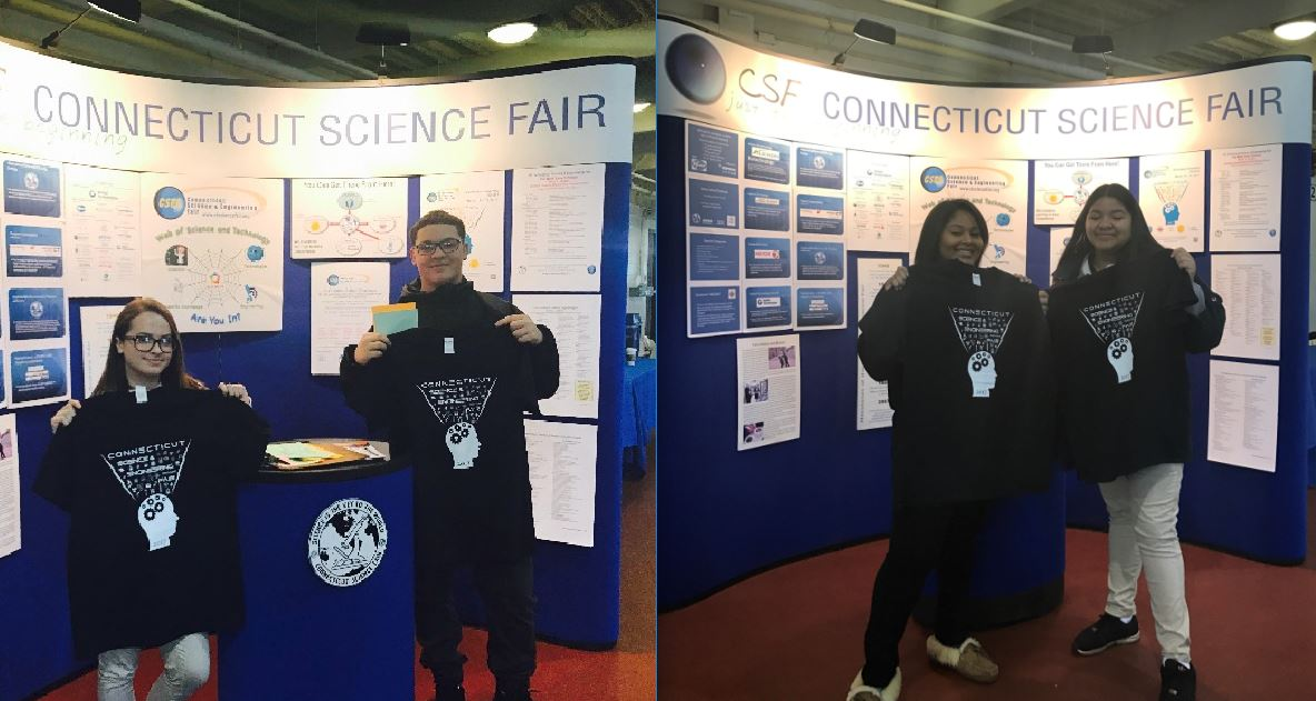 Two teams of masonry sophomore students were selected to represent Prince at Connecticut Science & Engineering Fair sponsored by CBIA